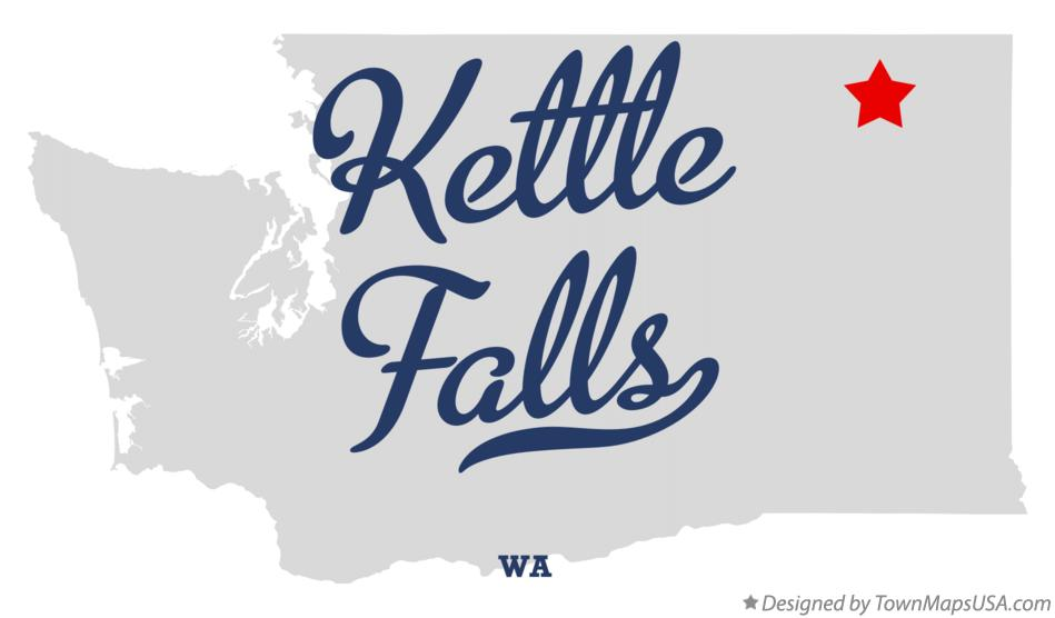 Map of Kettle Falls Washington WA