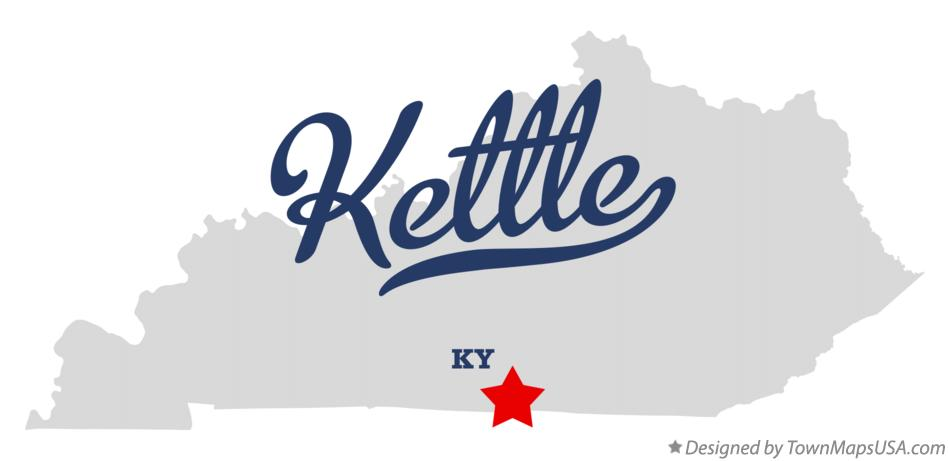 Map of Kettle Kentucky KY