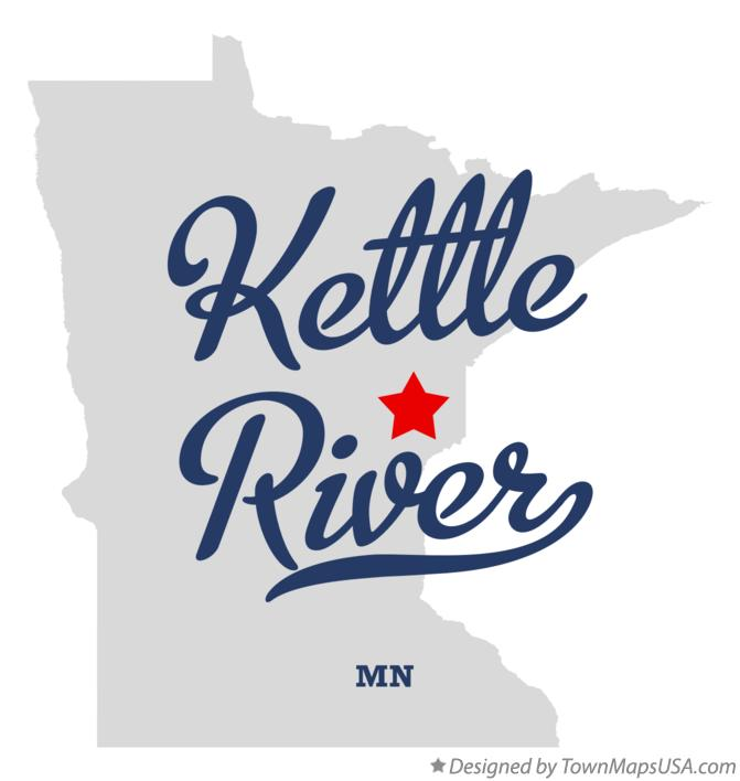 Map of Kettle River Minnesota MN