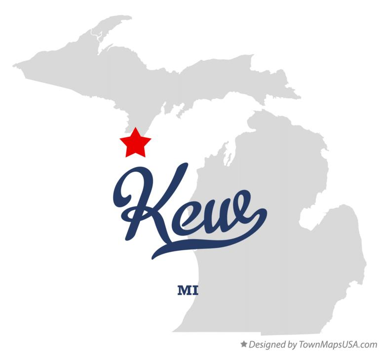 Map of Kew Michigan MI