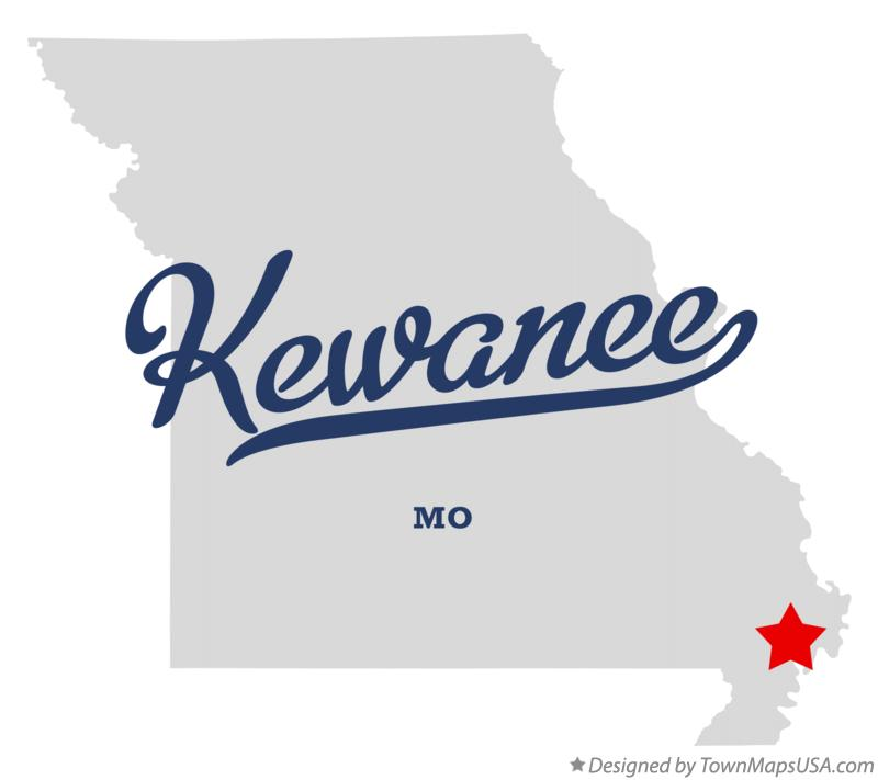 Map of Kewanee Missouri MO