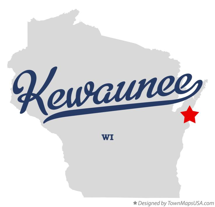 Map of Kewaunee Wisconsin WI