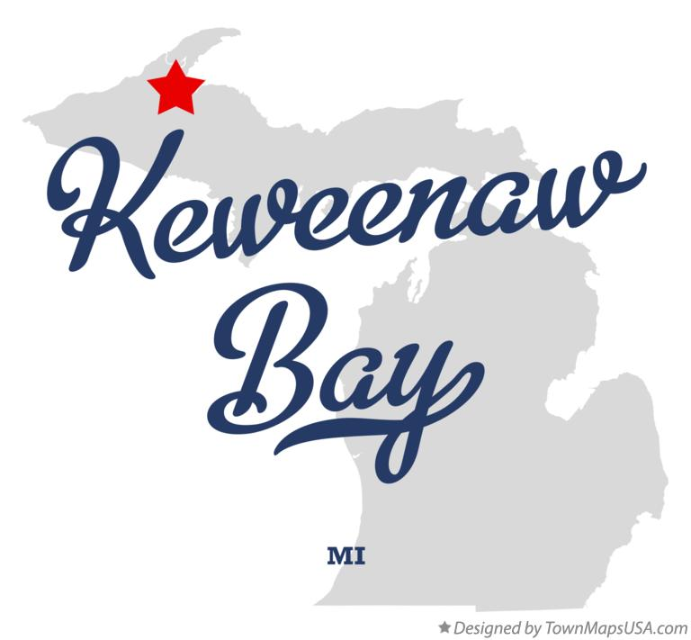 Map of Keweenaw Bay Michigan MI
