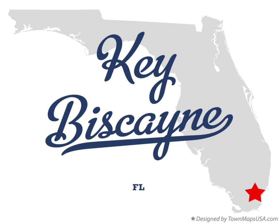 Map of Key Biscayne Florida FL