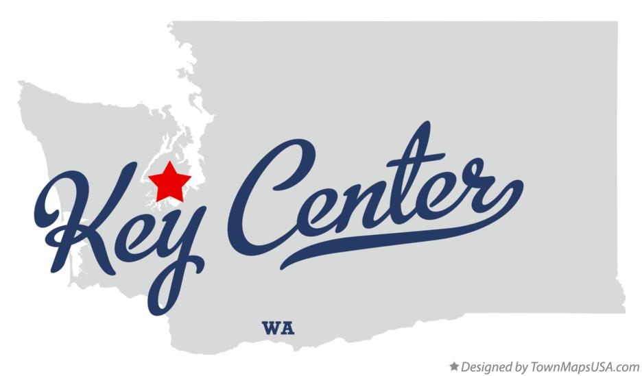 Map of Key Center Washington WA