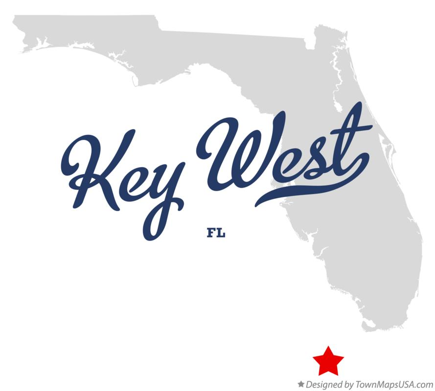 Map of Key West Florida FL