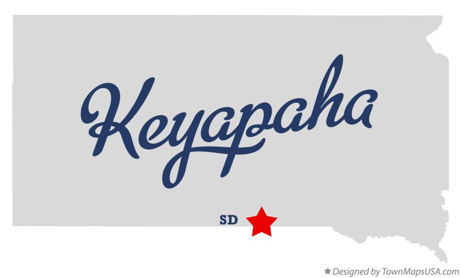Map of Keyapaha South Dakota SD