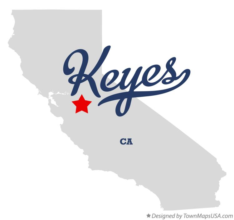 Map of Keyes California CA