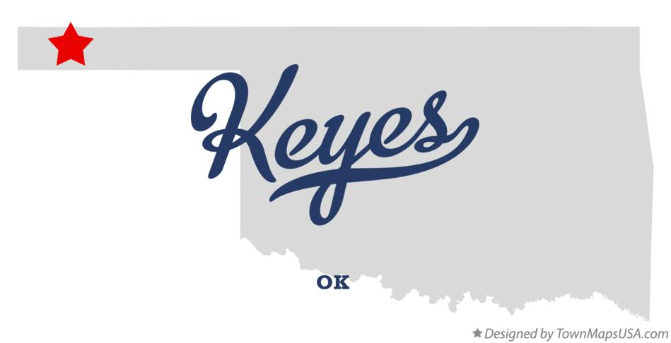 Map of Keyes Oklahoma OK
