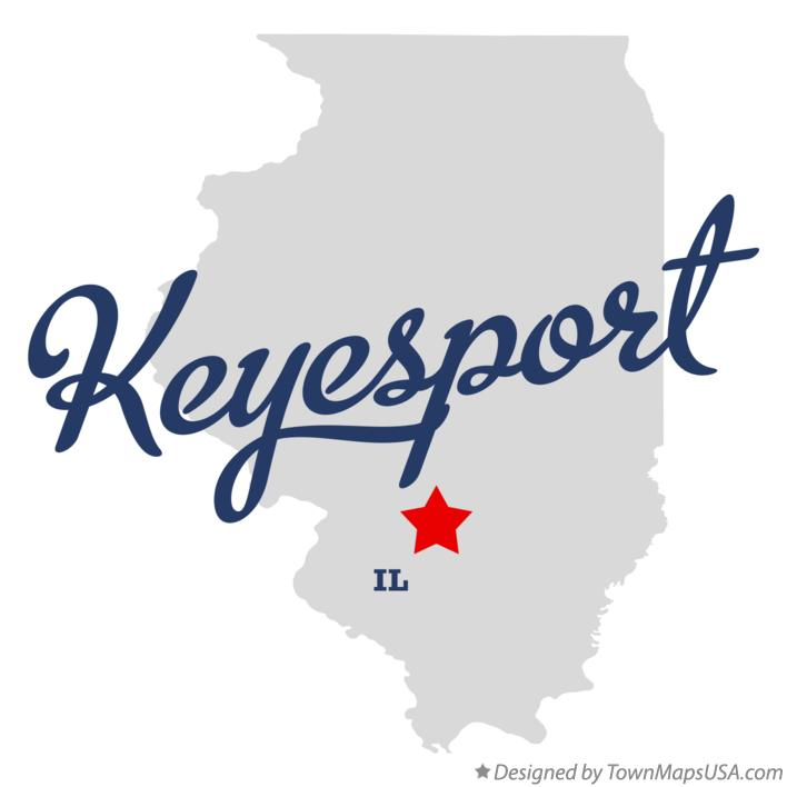 Map of Keyesport Illinois IL