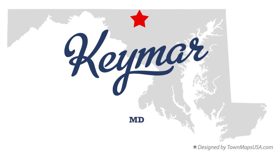 Map of Keymar Maryland MD