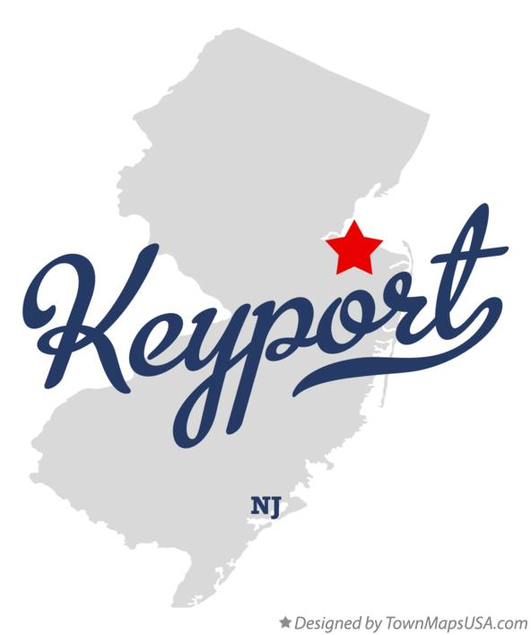 Map of Keyport New Jersey NJ