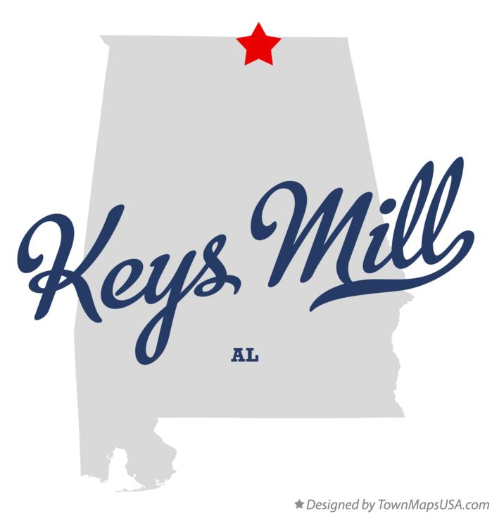 Map of Keys Mill Alabama AL