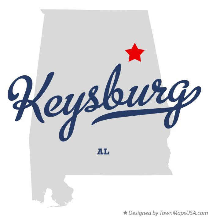 Map of Keysburg Alabama AL