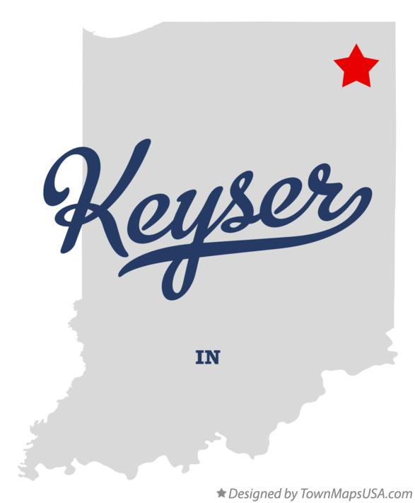 Map of Keyser Indiana IN
