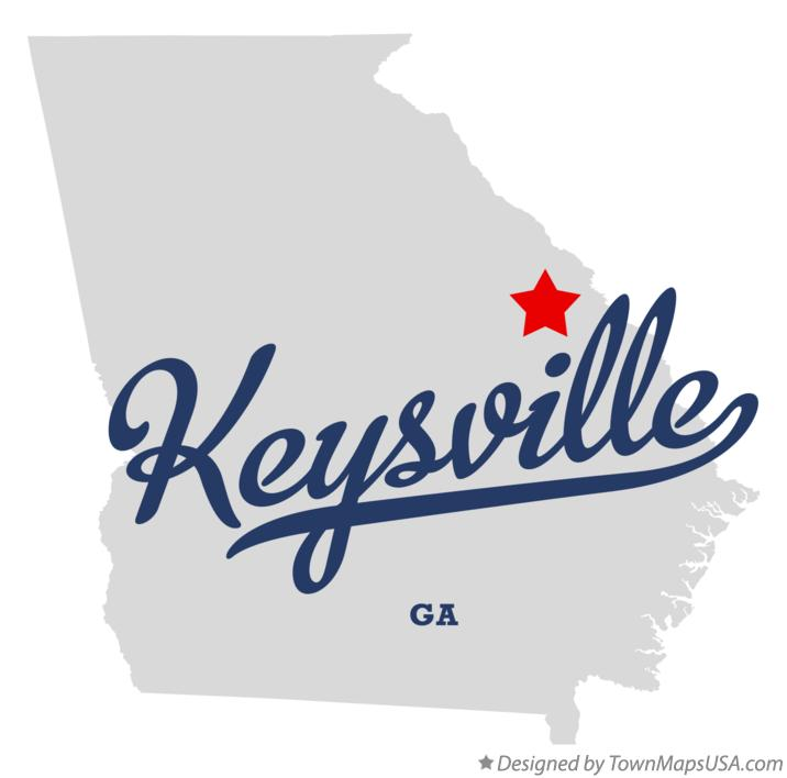 Map of Keysville Georgia GA