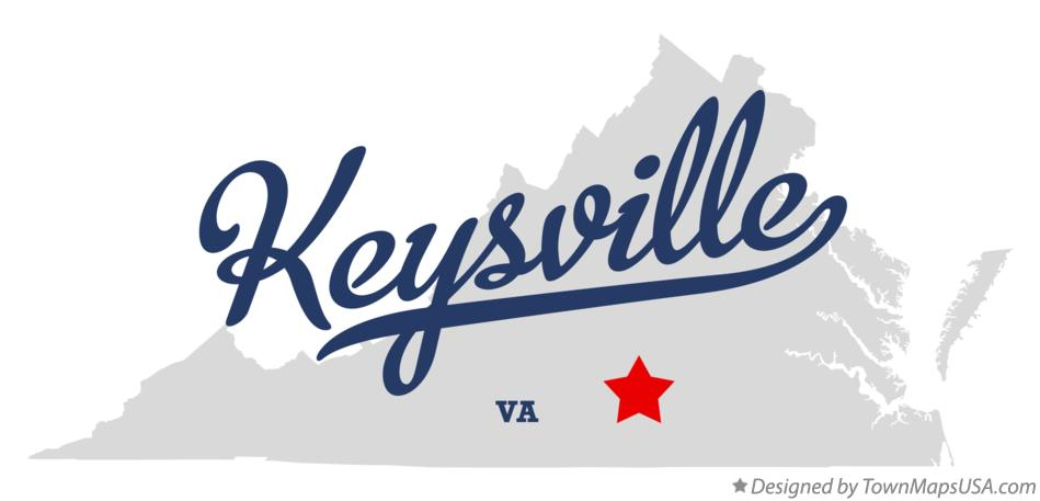Map of Keysville Virginia VA