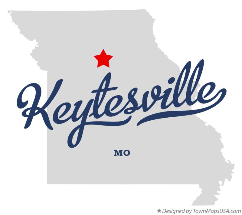 Map of Keytesville Missouri MO