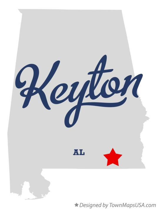 Map of Keyton Alabama AL
