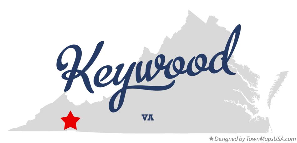 Map of Keywood Virginia VA