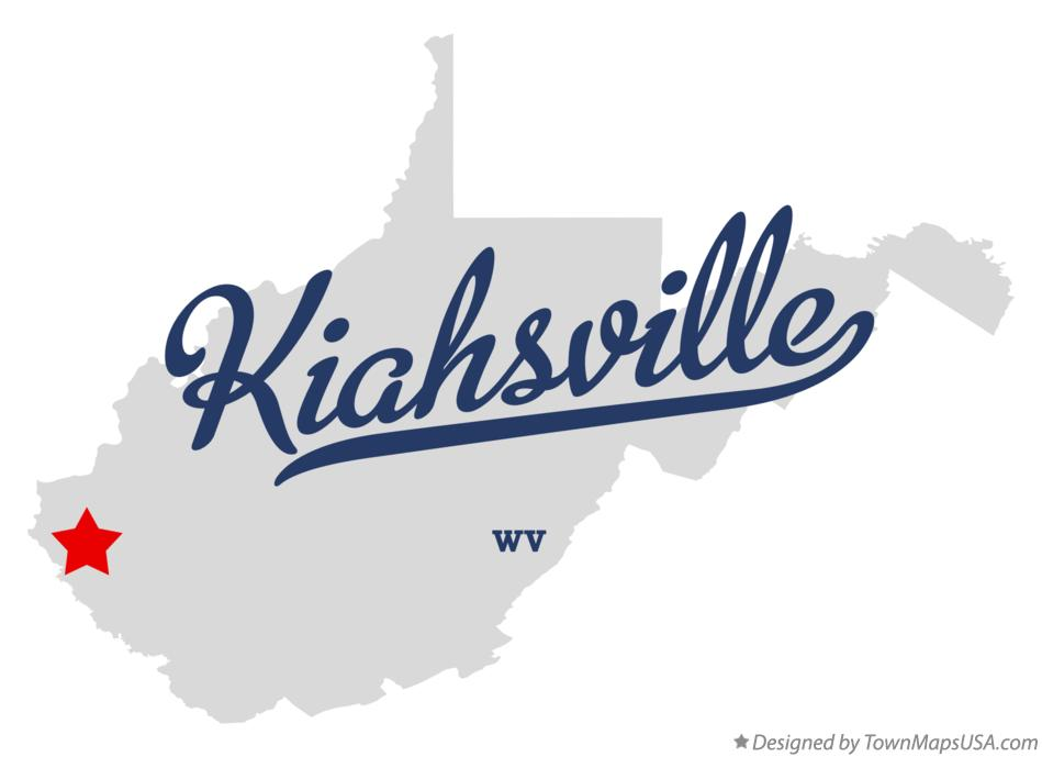 Map of Kiahsville West Virginia WV