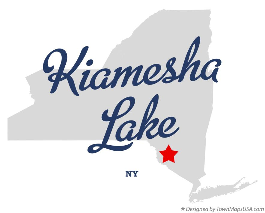 Map of Kiamesha Lake New York NY