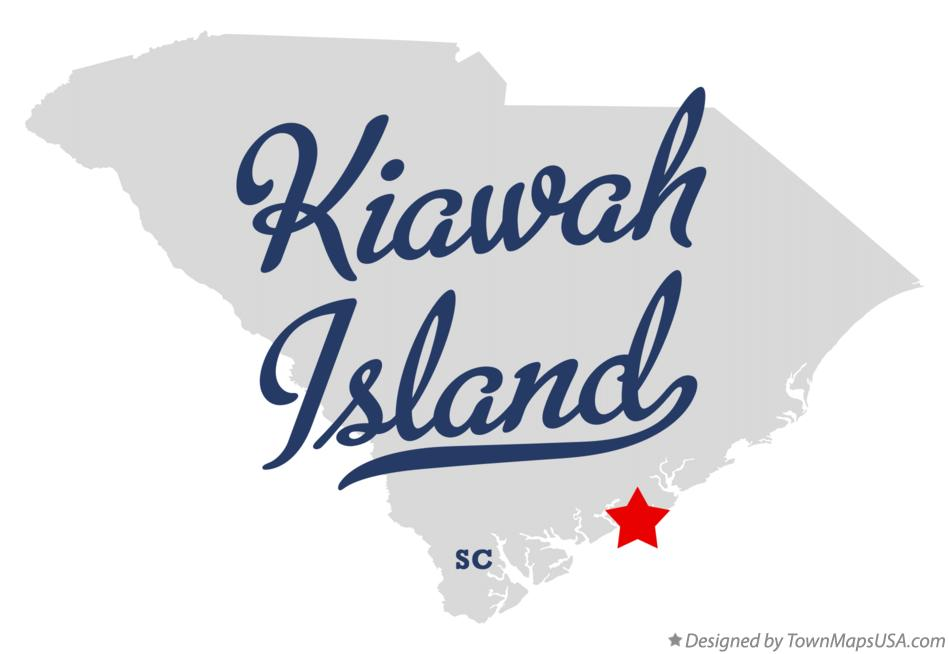 Map of Kiawah Island South Carolina SC