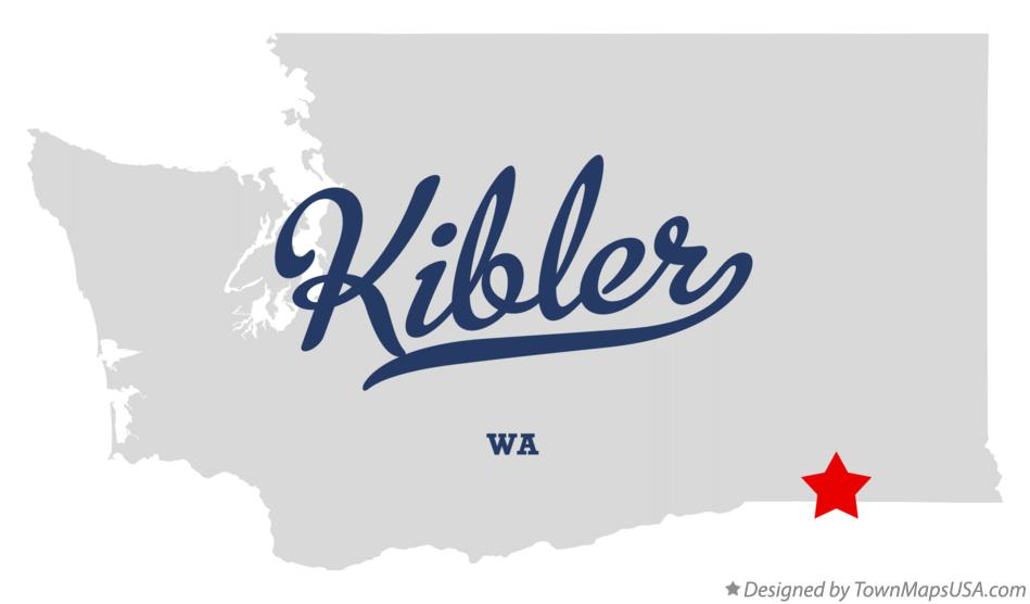 Map of Kibler Washington WA