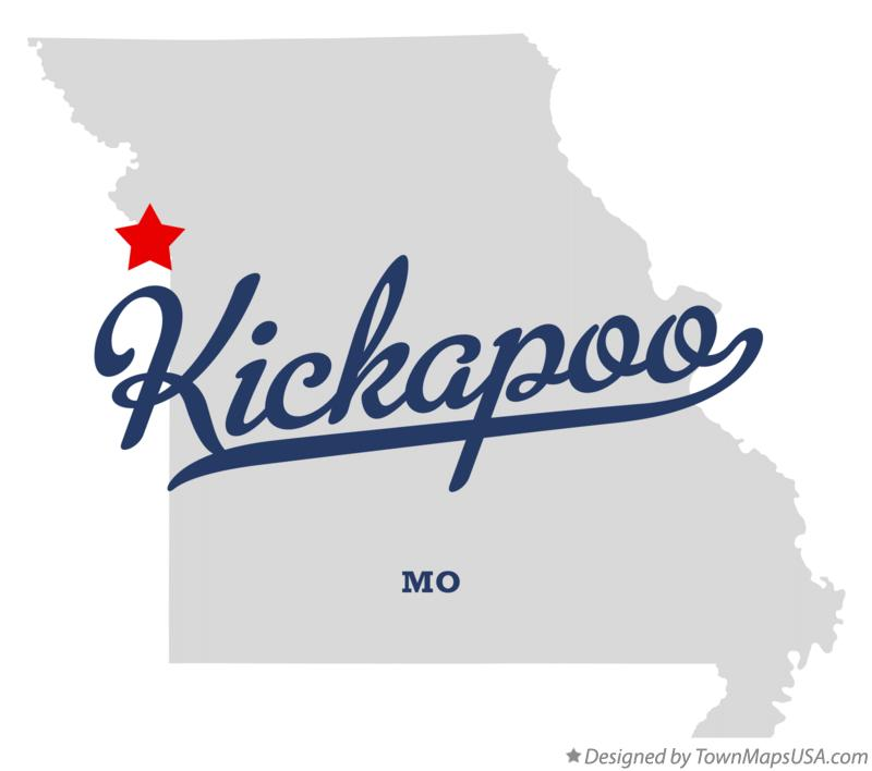 Map of Kickapoo Missouri MO