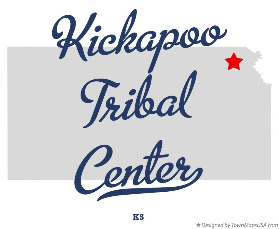 Map of Kickapoo Tribal Center Kansas KS