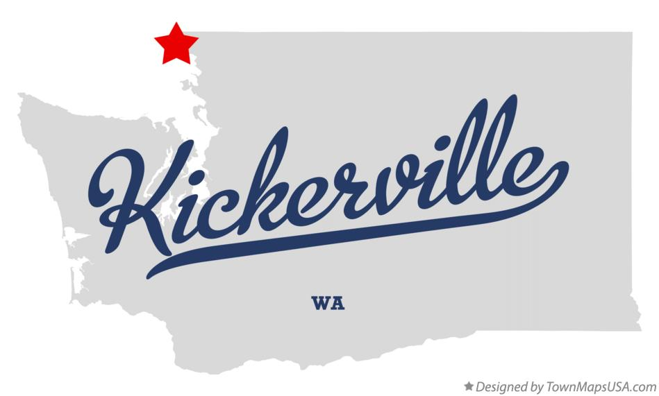 Map of Kickerville Washington WA
