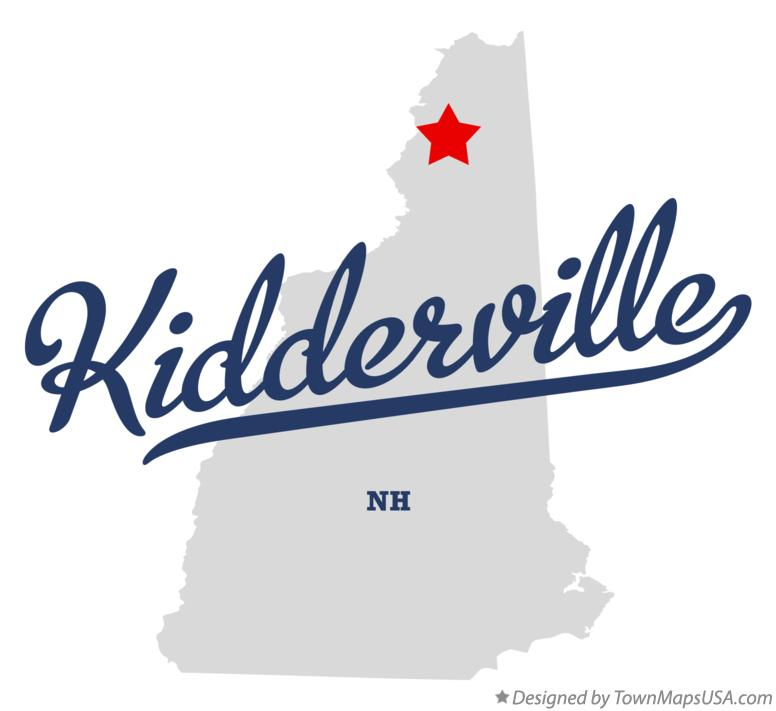 Map of Kidderville New Hampshire NH