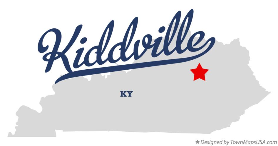 Map of Kiddville Kentucky KY