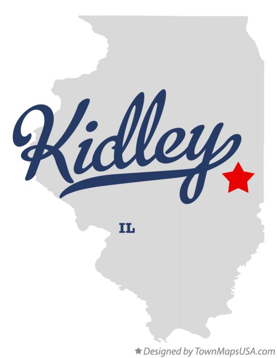 Map of Kidley Illinois IL