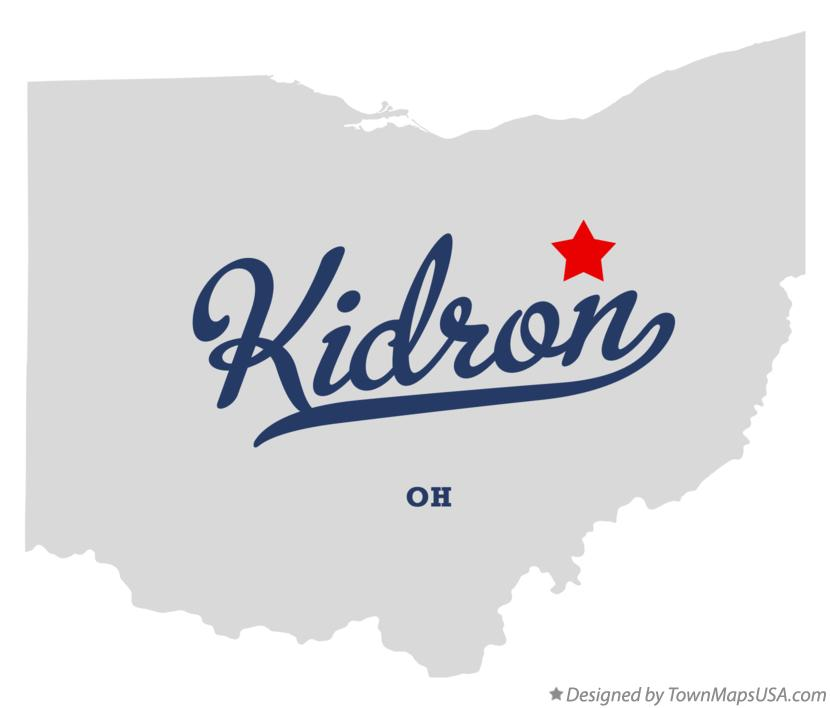 Map of Kidron Ohio OH