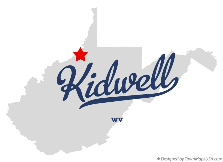 Map of Kidwell West Virginia WV