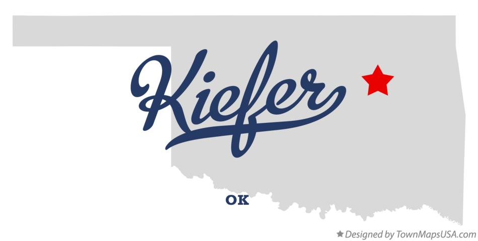 Map of Kiefer Oklahoma OK