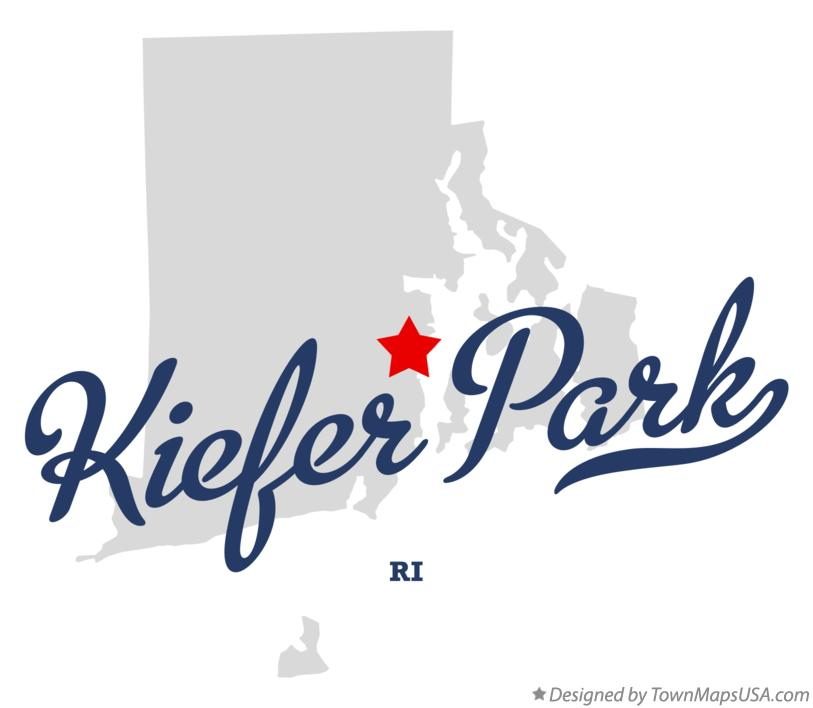 Map of Kiefer Park Rhode Island RI