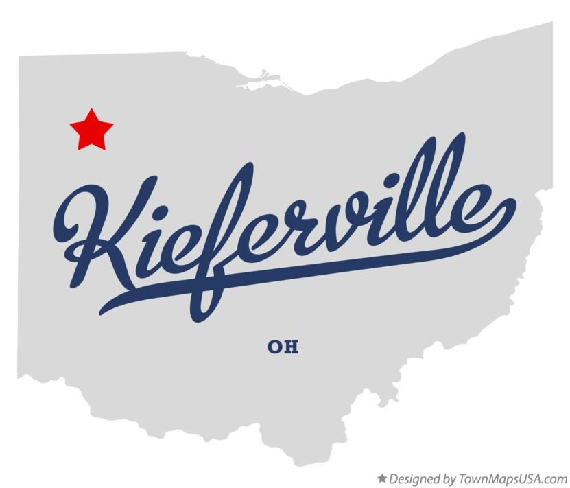 Map of Kieferville Ohio OH