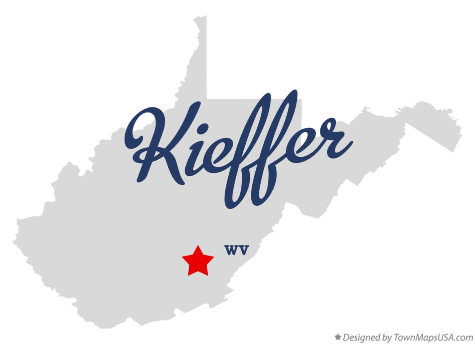 Map of Kieffer West Virginia WV