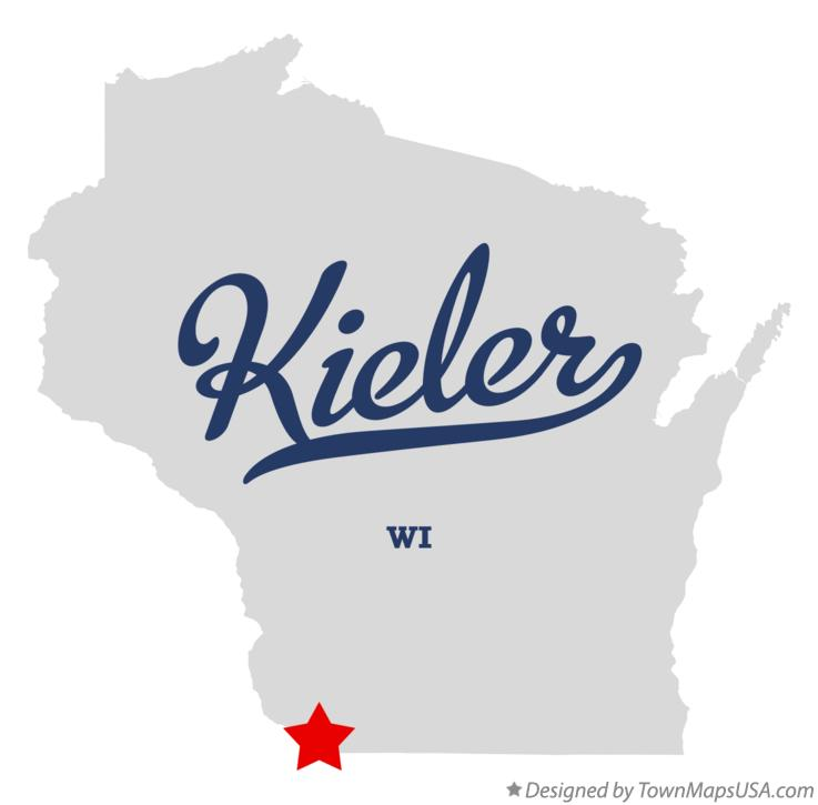 Map of Kieler Wisconsin WI