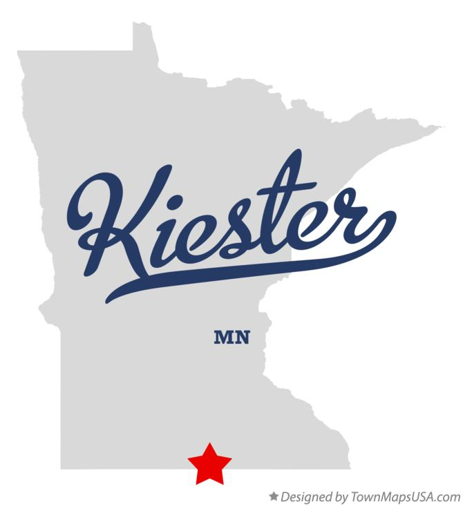 Map of Kiester Minnesota MN