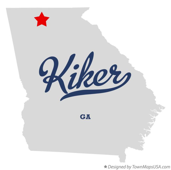 Map of Kiker Georgia GA