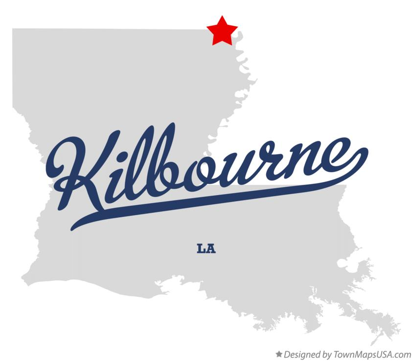Map of Kilbourne Louisiana LA