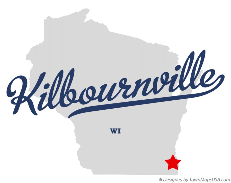 Map of Kilbournville Wisconsin WI