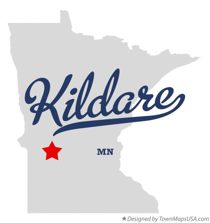 Map of Kildare Minnesota MN
