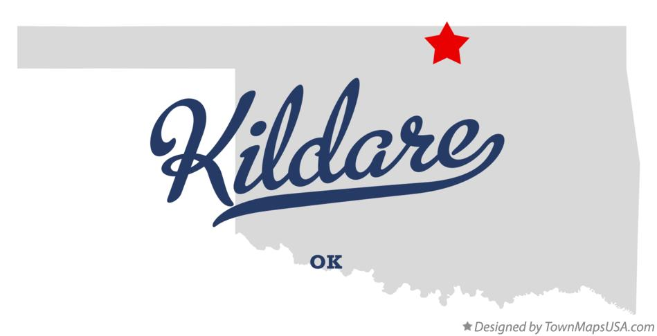 Map of Kildare Oklahoma OK