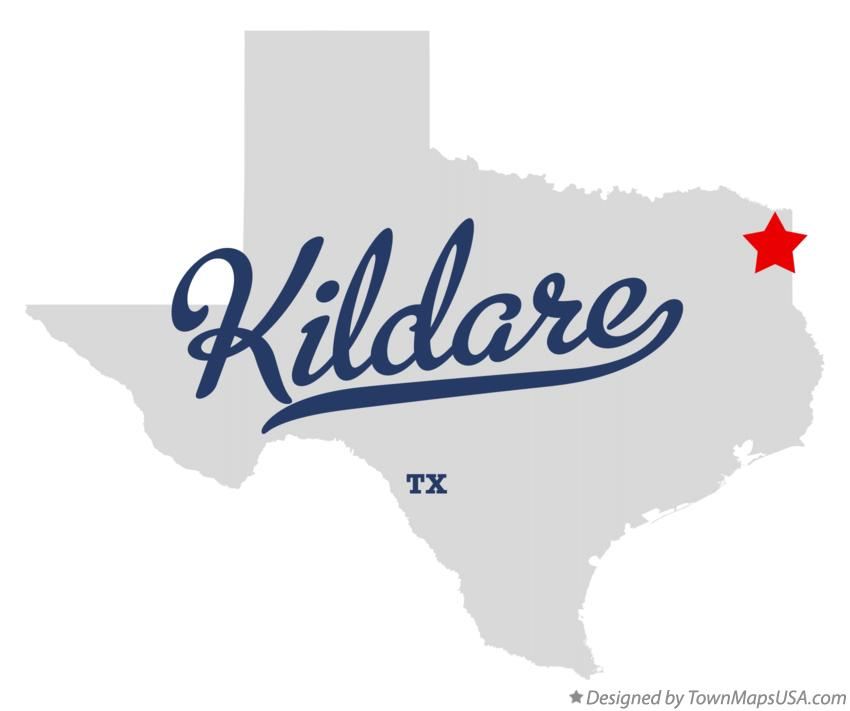 Map of Kildare Texas TX