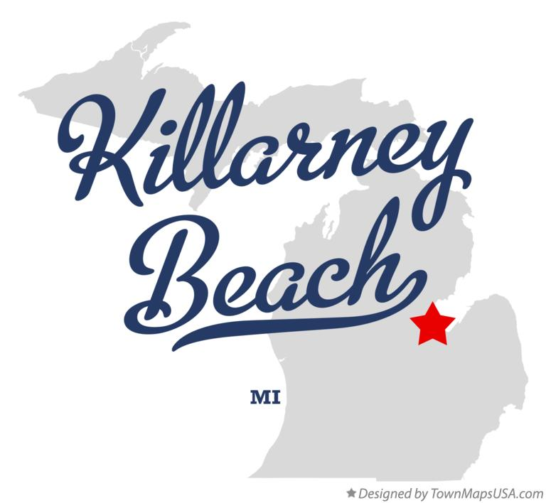 Map of Killarney Beach Michigan MI