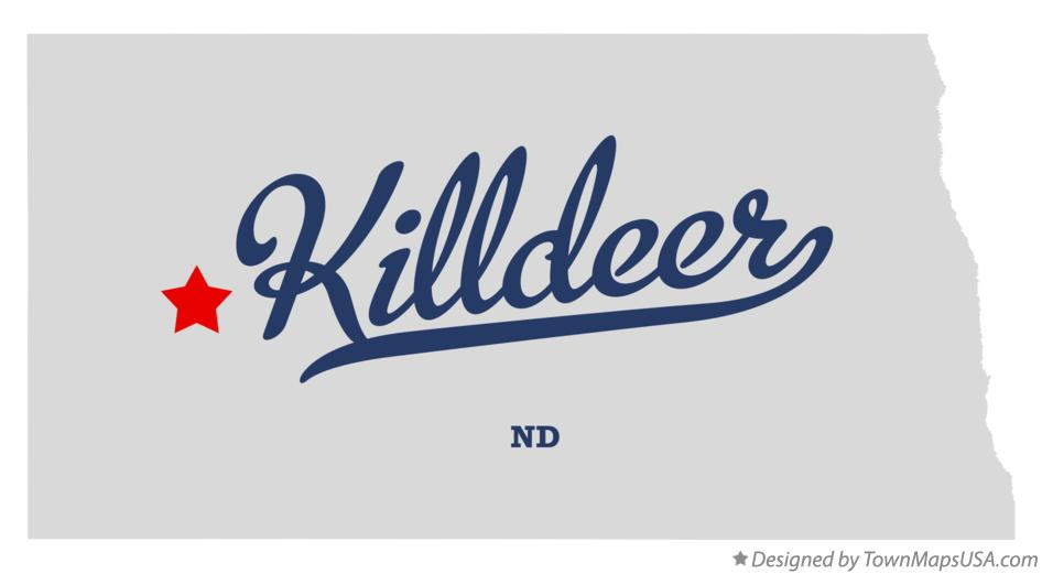 Map of Killdeer North Dakota ND